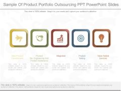 Sample Of Product Portfolio Outsourcing Ppt Powerpoint Slides