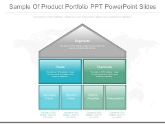Sample Of Product Portfolio Ppt Powerpoint Slides