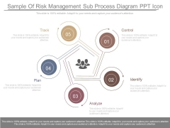 Sample Of Risk Management Sub Process Diagram Ppt Icon