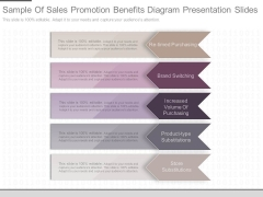 Sample Of Sales Promotion Benefits Diagram Presentation Slides