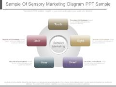 Sample Of Sensory Marketing Diagram Ppt Sample