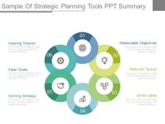 Sample Of Strategic Planning Tools Ppt Summary