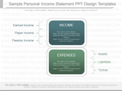 Sample Personal Income Statement Ppt Design Templates
