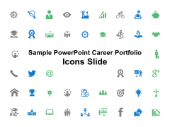Sample PowerPoint Career Portfolio Icons Slide Ppt PowerPoint Presentation Styles Slides