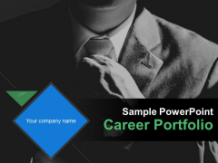 Sample PowerPoint Career Portfolio Ppt PowerPoint Presentation Complete Deck With Slides