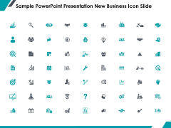 Sample PowerPoint Presentation New Business Icon Slide Marketing Ppt PowerPoint Presentation Pictures Example