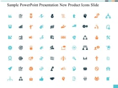 Sample PowerPoint Presentation New Product Icons Slide Ppt PowerPoint Presentation Slides Rules