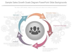 Sample Sales Growth Goals Diagram Powerpoint Slide Backgrounds