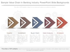 Sample Value Chain In Banking Industry Powerpoint Slide Backgrounds