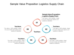 Sample Value Proposition Logistics Supply Chain Ppt PowerPoint Presentation Infographic Template Example 2015 Cpb