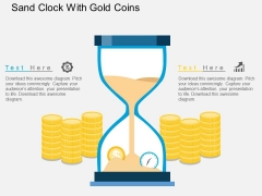 Sand Clock With Gold Coins Powerpoint Template