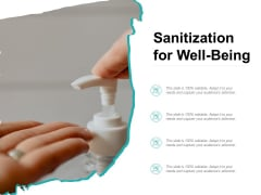 Sanitization For Well Being Ppt PowerPoint Presentation File Model PDF