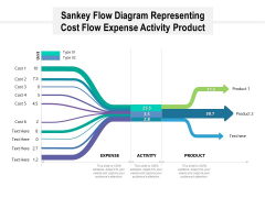 Sankey Flow Diagram Representing Cost Flow Expense Activity Product Ppt PowerPoint Presentation Portfolio Template PDF