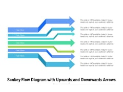 Sankey Flow Diagram With Upwards And Downwards Arrows Ppt PowerPoint Presentation Model Background Images PDF