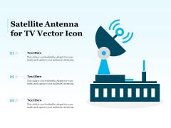 Satellite Antenna For Tv Vector Icon Ppt PowerPoint Presentation Styles Themes PDF