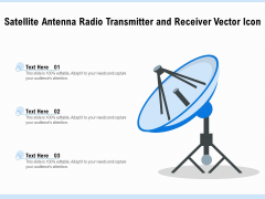 Satellite Antenna Radio Transmitter And Receiver Vector Icon Ppt PowerPoint Presentation Show Samples PDF