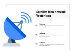 Satellite Dish Network Vector Icon Ppt Infographics Background Designs PDF