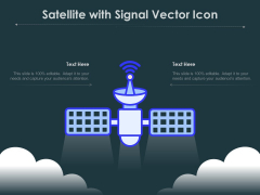 Satellite With Signal Vector Icon Ppt PowerPoint Presentation Summary Themes PDF