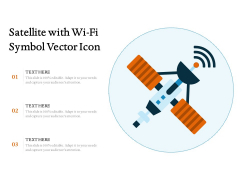 Satellite With Wi Fi Symbol Vector Icon Ppt PowerPoint Presentation Layouts Structure PDF