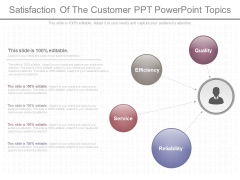 Satisfaction Of The Customer Ppt Powerpoint Topics