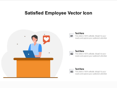 Satisfied Employee Vector Icon Ppt PowerPoint Presentation Show Outfit PDF