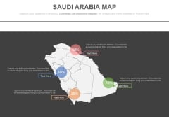 Saudi Arabia Map For Financial Strategy Analysis Powerpoint Slides