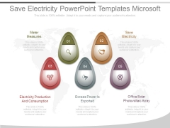 Save Electricity Powerpoint Templates Microsoft