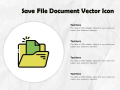 Save File Document Vector Icon Ppt PowerPoint Presentation Model Slide