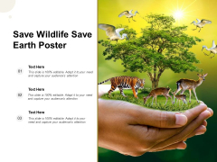 Save Wildlife Save Earth Poster Ppt PowerPoint Presentation Layouts Inspiration