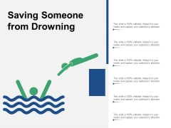 Saving Someone From Drowning Ppt PowerPoint Presentation Summary Background Image