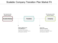 Scalable Company Transition Plan Market Fit Ppt PowerPoint Presentation Infographics Background Images