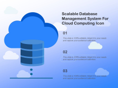 Scalable Database Management System For Cloud Computing Icon Ppt PowerPoint Presentation Model Deck PDF