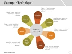 Scamper Technique Template 1 Ppt PowerPoint Presentation Styles Skills