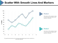 Scatter With Smooth Lines And Markers Ppt PowerPoint Presentation Ideas Example