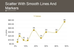 Scatter With Smooth Lines And Markers Ppt PowerPoint Presentation Outline