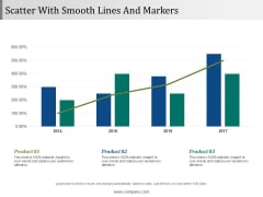 Scatter With Smooth Lines And Markers Ppt PowerPoint Presentation Pictures Deck