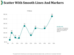 Scatter With Smooth Lines And Markers Ppt PowerPoint Presentation Styles Backgrounds