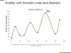 Scatter With Smooth Lines And Markers Ppt PowerPoint Presentation Styles Design Ideas