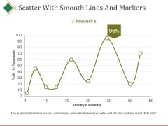 Scatter With Smooth Lines And Markers Ppt PowerPoint Presentation Visual Aids Ideas