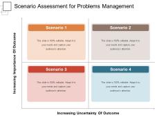 Scenario Assessment For Problems Management Ppt PowerPoint Presentation Model Design Templates PDF