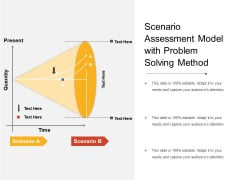 Scenario Assessment Model With Problem Solving Method Ppt PowerPoint Presentation Ideas Examples PDF