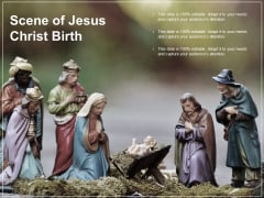 Scene Of Jesus Christ Birth Ppt PowerPoint Presentation Styles Inspiration