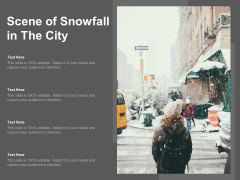 Scene Of Snowfall In The City Ppt PowerPoint Presentation Styles Mockup