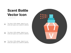 Scent Bottle Vector Icon Ppt Powerpoint Presentation Ideas Background Image