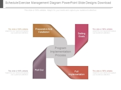 Schedule Exercise Management Diagram Powerpoint Slide Designs Download