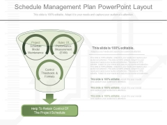 Schedule Management Plan Powerpoint Layout