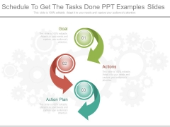 Schedule To Get The Tasks Done Ppt Examples Slides