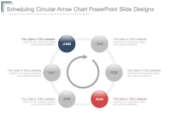 Scheduling Circular Arrow Chart Powerpoint Slide Designs