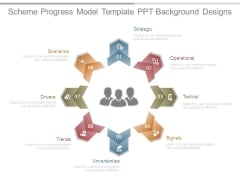 Scheme Progress Model Template Ppt Background Designs
