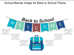 School Banner Image For Back To School Theme Ppt PowerPoint Presentation Icon Display